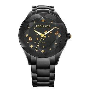 Relógio Technos Feminino Série  Cristal 2039au1p -Preto