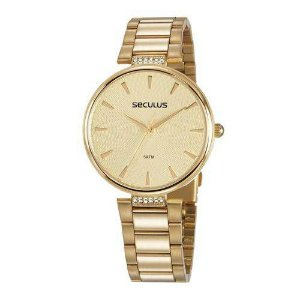 Relógio Seculus Feminino Glamour 77027lpsvds1