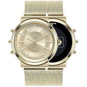 Relógio Technos Feminino Curvas Dourado 9T33AA/4X