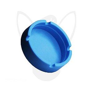 Cinzeiro de Silicone Redondo Azul
