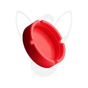 Cinzeiro de Silicone Redondo Vermelho