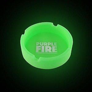 Cinzeiro de Silicone Purple Fire Verde Brilha no Escuro