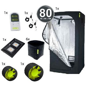 Kit Básico Cultivo Indoor Garden HighPro LED Probox 80 Até 6 Plantas