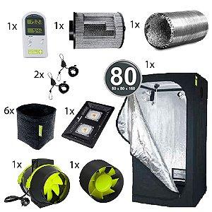 Kit Básico Cultivo Indoor Garden HighPro LED Probox 80 Até 6 Plantas Sem Cheiro