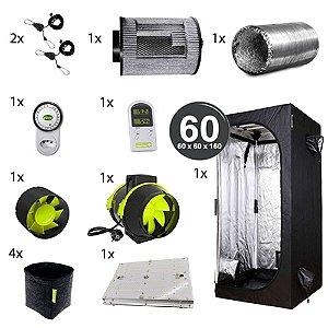 Kit Avançado Cultivo Indoor Garden HighPro LED Probox 60 Até 4 Plantas Sem Cheiro