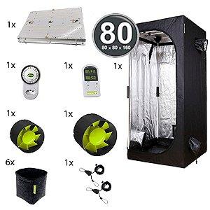 Kit Avançado Cultivo Indoor Garden HighPro LED Probox 80 Até 6 Plantas
