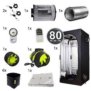 Kit Avançado Cultivo Indoor Garden HighPro LED Probox 80 Até 6 Plantas Sem Cheiro