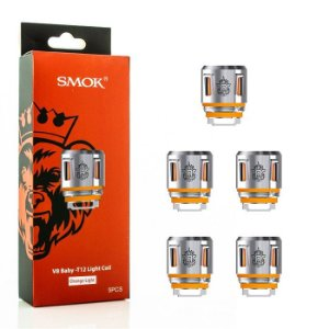 Coil (Bobina) V8 Baby Orange Lignt T12 - 0.15ohm - Marca Smok™ (Pack c/ 5 unidades)
