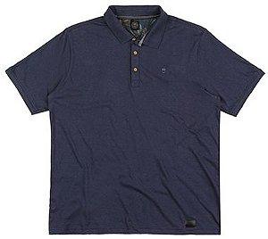 Camisa Polo Plus Size - Azul Escuro