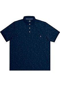 Camisa Polo Plus Size Azul Escuro
