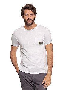 Camiseta Masculina Cinza c/ Bolso