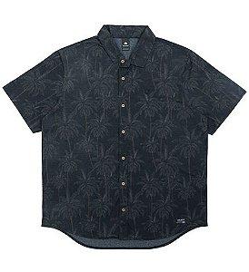 Camisa Plus Size Masculina c/ Estampa de Palmeiras