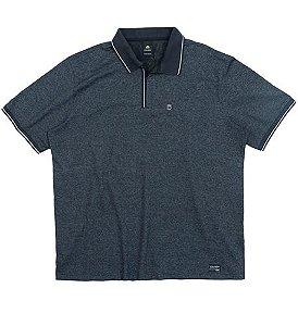Camisa Polo Plus Size na Cor Chumbo c/ Zíper