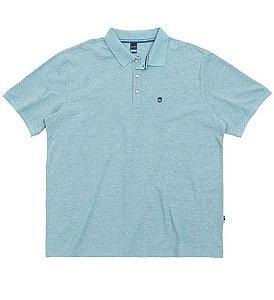 Camisa Polo Plus Size Azul Claro