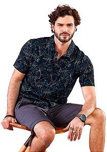 Camisa Masculina com Estampa de Coqueiros