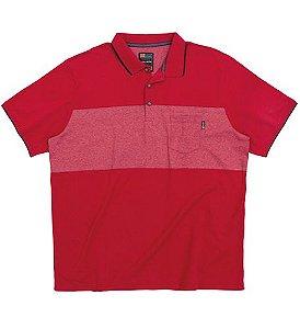 Camisa Polo Plus Size Vermelha c/ Bolso