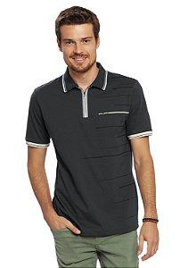 Camisa Polo Masculina com Zíper
