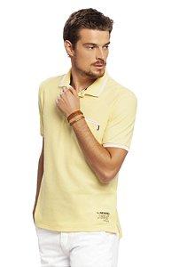 Camisa Polo Masculina Piquet Amarelo