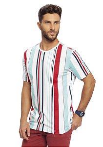 Camiseta Masculina Listras Verticais