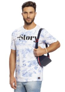 Camiseta Masculina Our Story Full Print