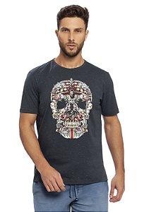 Camiseta Masculina Estampa Caveira Mexicana