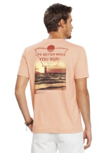 Camiseta Estampada Surf nas Costas