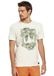 Camiseta Masculina Estampa Folhas Verão