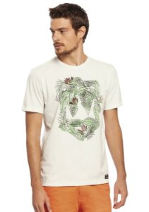 Camiseta Masculina Estampa Folhas