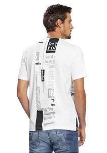 Camiseta Masculina Estilo Urbano Estampa Frontal e nas Costas