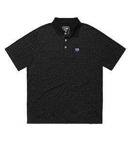 Camiseta Polo Masculina Plus Size Preta Clássica