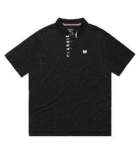 Camisa polo Masculina Plus Size com Aplicação no Peitilho