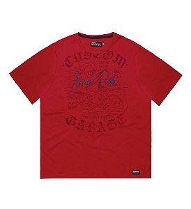 Camiseta Masculina Plus Size Vermelha Soul Ride
