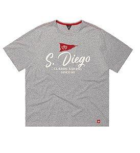 Camiseta Masculina Plus Size Mescla San Diego