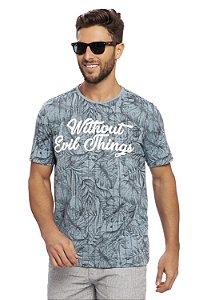 Camiseta Masculina Folhagens