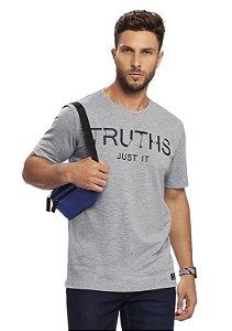 Camiseta Masculina Mescla Cinza