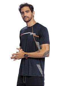 Camiseta Masculina Fitness Preta