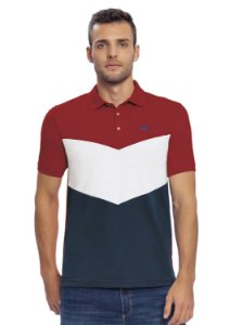 Camisa Polo Masculina em Recortes