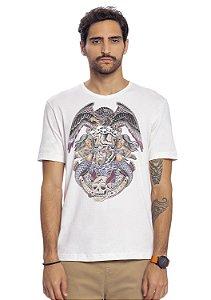 Camiseta Masculina Estampa Localizada Eagle
