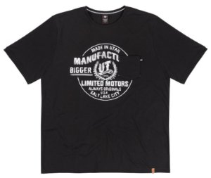 Camiseta Masculina Plus Size Preta Motors