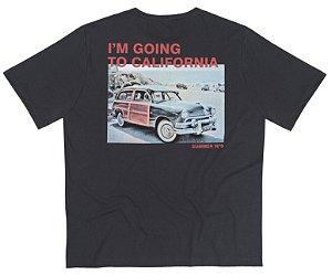 Camiseta Masculina Plus Size Califórnia Estampa Costas