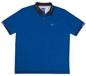 Camisa Polo Plus Size em Malha com Texturas