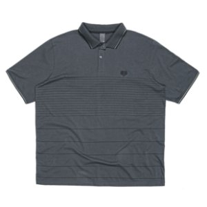 Camisa Polo Masculina Plus Size Classic Chumbo