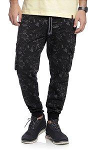 Calça Masculina Jogger em Moletom Camuflada