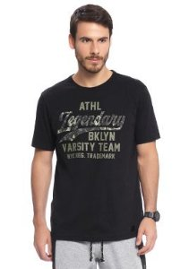 Camiseta Masculina Adulta com Estampa Relevo