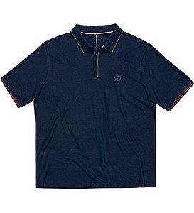 Camisa Polo Masculina Plus Size com Zíper no Peitilho
