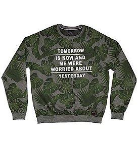 Blusão Masculino em Moletom na cor Verde Militar