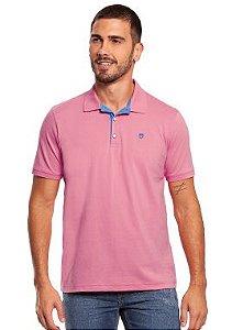 Camisa Polo Masculina na cor Rosa