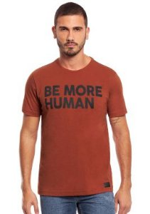 Camiseta Masculina com estampa relevo