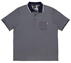 Camisa Polo Plus Size Masculina com Bolso