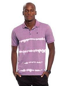 Camisa Polo Masculina com Estampa Estilo Tie Dye